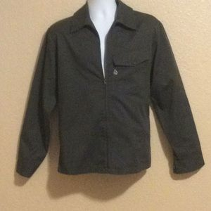 Volcom men's light weight jacket, army green